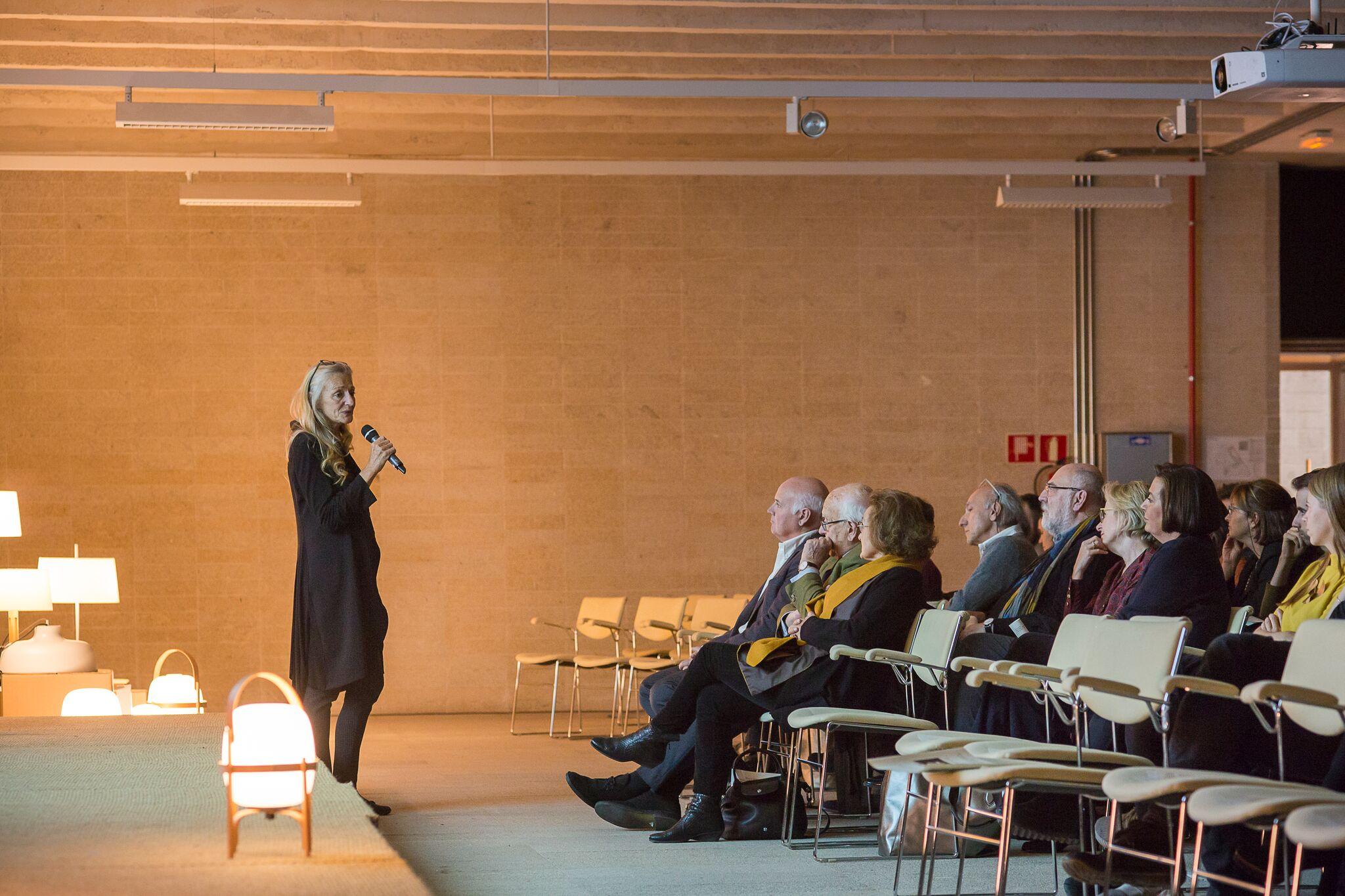 Nina Massó en la proyección del documental de Miguel Milá